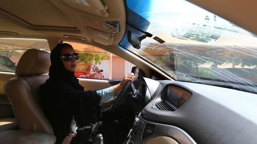 Campaigners are fighting for women's right to drive in Saudi Arabia under the slogan ' driving is a choice '.
