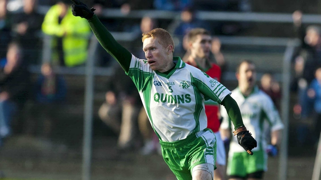Baltinglass's Rory Nolan celebrates scoring