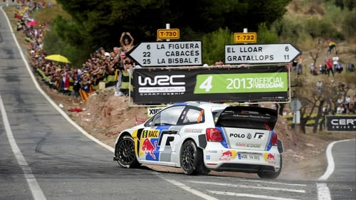 Sebastien Ogier in his Volkswagen Motorsport Polo R WRC