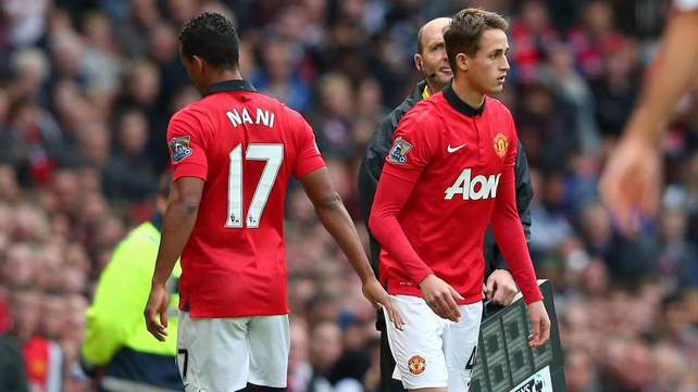 Nani was booed as he left the field on Saturday