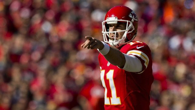 Kansas City Chiefs quarterback Alex Smith threw two touchdowns