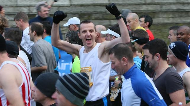 Belfast Runner Colin Draine starts the Dublin Marathon