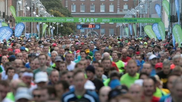 Over 14,500 runners took part in the marathon this year