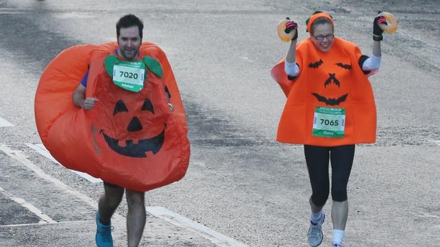Runners in fancy dress took part