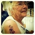 Tattoo at 80 years of age