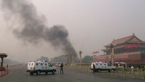 Police identified Monday's incident at Tiananmen Square as a violent terrorist attack