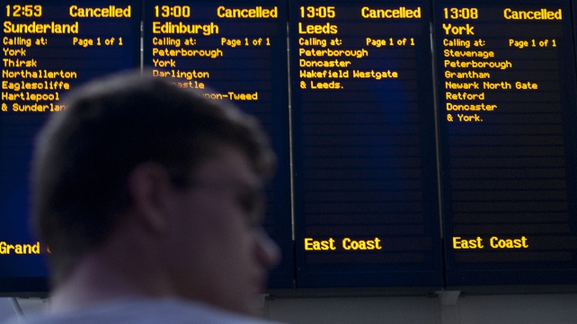 The storm led to major disruption for those trying to travel by public transport