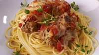 Cheesy Meatballs with Spaghetti - Rachel Allen shares her recipe for this delicious Italian-style treat