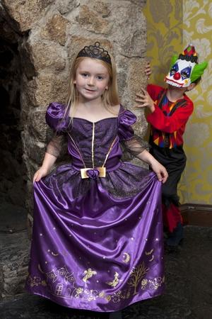 Tesco Disney Princess ballgown €10 and Clown Costume €10