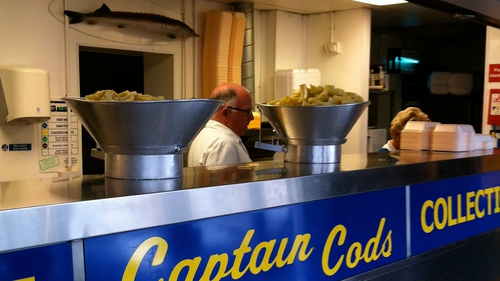 Captain Cod's with sturgeon in the background