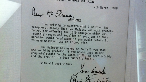 The letter from Buckingham Palace