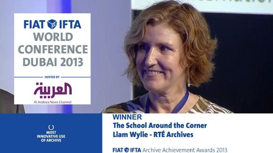 Bríd Dooley, Head of RTÉ Archives, at the FIAT/IFTA World Conference in Dubai (2013)