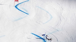Marcel Hirscher of Austria competes during the Alpine Ski World Cup men's giant slalom in Soelden, Austria