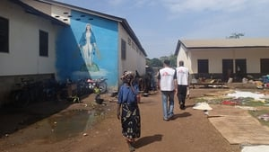Tens of thousands of people are sheltering in the Catholic mission in Bossangoa town, which is far beyond its capacity (Pic: MSF)