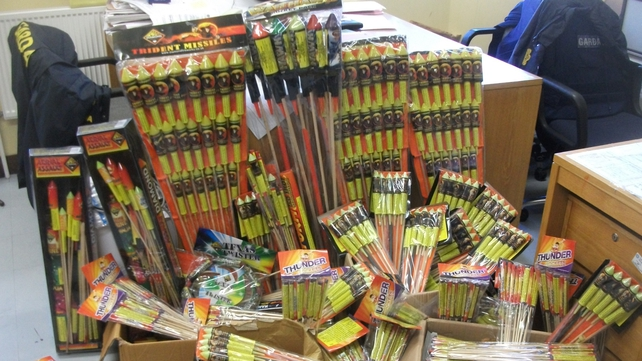 The fireworks found in Shannon are valued at around €2,000