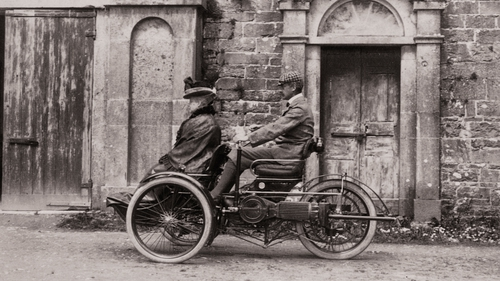 An early motor car, Ross House, Ross, Co Galway, 1898-89 (Power and Privilege: the Big House in Ireland)