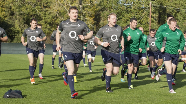 Brian O'Driscoll has returned to training