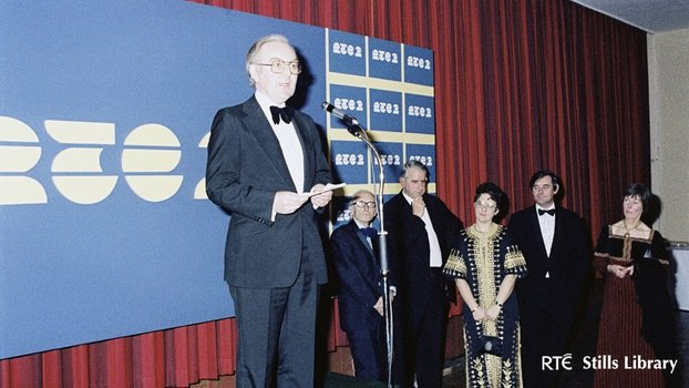Director-General of RTÉ George Waters at RTÉ 2 Launch (1978)