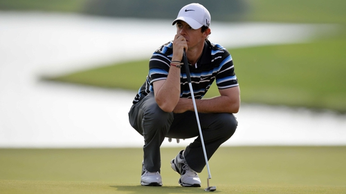 Rory McIlroy struggled on the back nince at the WGC-HSBC Champions