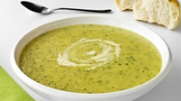 Courgette and Almond Soup - This wonderful combination creates a luxurious soup that is a great option for a dinner party