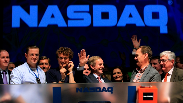 The image of the NASDAQ bell being rung in Dublin was beamed around the world