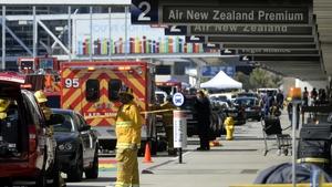 A Los Angeles fire department spokesman said seven people were hurt