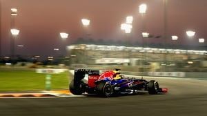 Sebastian Vettel lapped the Yas Marina circuit with a time of one minute 41.349 but team-mate Mark Webber was faster