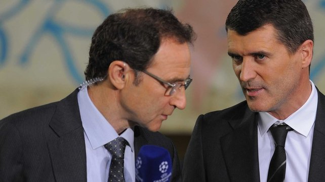 Martin O'Neill and Roy Keane working together on ITV