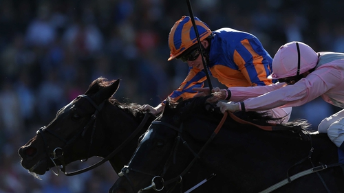 Ryan Moore pushes Magician clear to win in California