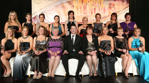 The 2013 Camogie All Stars with special guest Dónal Óg Cusack