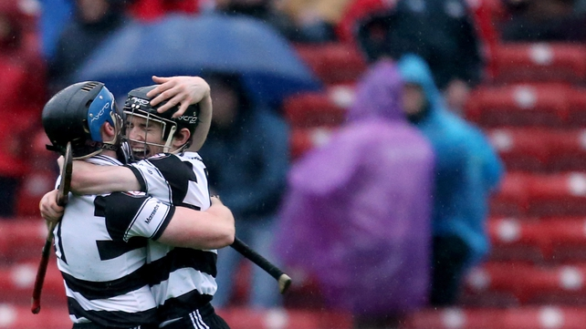 Midleton's Conor Lehane celebrates with Brian Hartnett at the final whistle