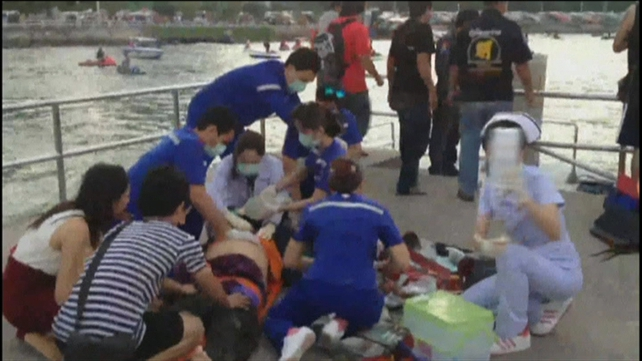 Medical teams treated those rescued from the water