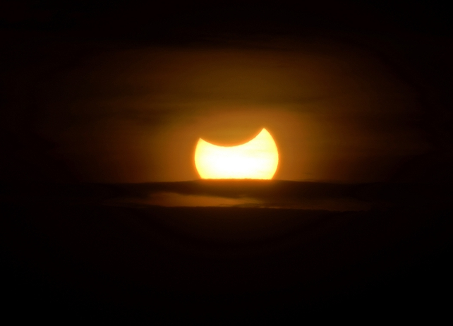Eclipse seen in Tunisian skies