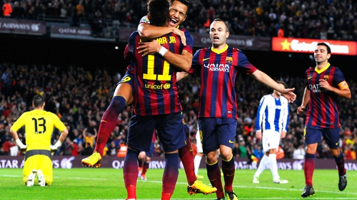 Barcelona will face Manchester City in a mouth-watering Champions League clash
