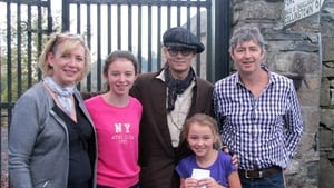 The Weir family and their very famous customer