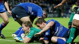 Kieran Marmion touches down against Leinster