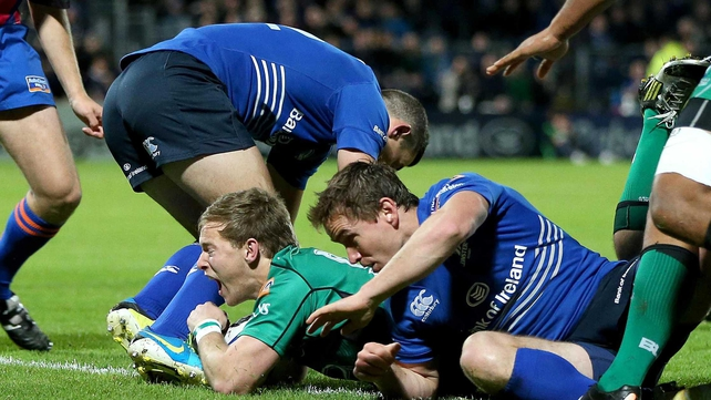 Kieran Marmion touches down against Leinster