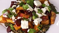 Pickled Beetroot, Sweet Potato and Lentil Salad - Rachel Allen's fresh and filling salad