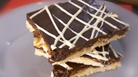 Quick Double Chocolate Millionaire's Shortbread - A delicious and indulgent sweet treat perfect for bringing with you on the move