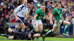 Keith Earls has tendonitis of the knee