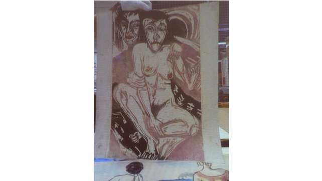 German painter Ernst Ludvig Kirchner's painting titled 'Melancholy Girls'