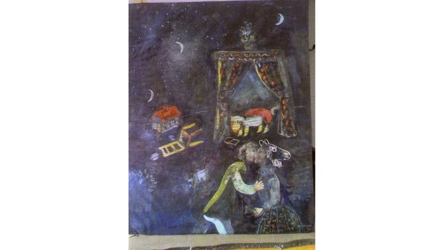 A reproduction of a painting by Belarusian-born French artist Marc Chagall
