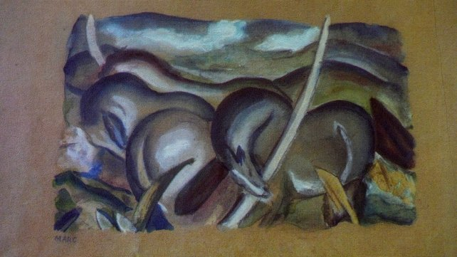 A painting by German painter Franz Marc
