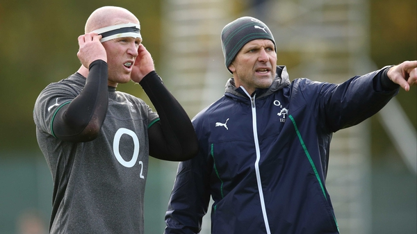 Ireland forwards coach John Plumtree: 'Today was the first time he trained but whether he can do 80 or not I'm not sure'