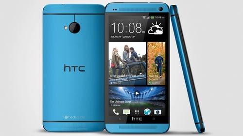 HTC One Vivid Blue phone to giveaway