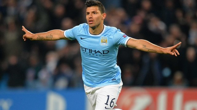 Sergio Aguero is still waiting to see how serious his hamstring injury is