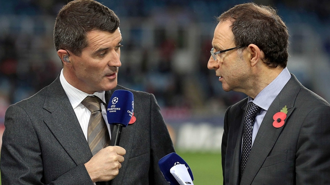 Martin O'Neill and Roy Keane will take charge of the Ireland team for the first time against Latvia