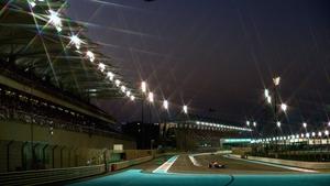 Sebastian Vettel drives during the Abu Dhabi F1 Grand Prix