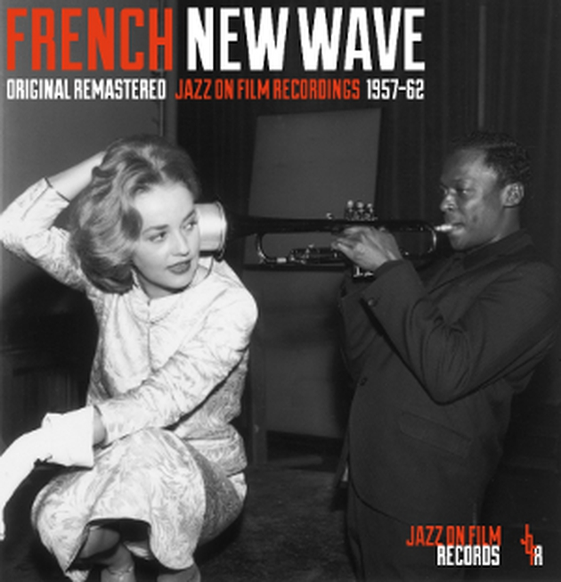 Miles Davis blasts in Jeanne Moreau's ear on the cover of French New Wave's selection of soundtracks from 1957 to 1962.