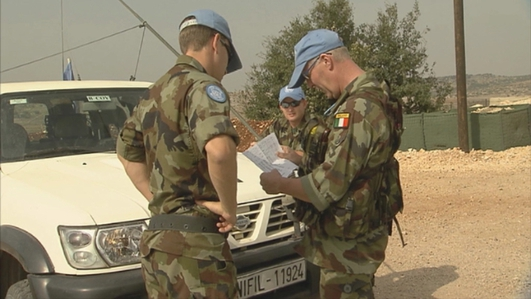 Paul Reynolds' report on Irish troops' involvement with local communities in Southern Lebanon.